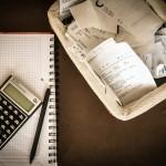 daně, kalkulačka, účetnictví